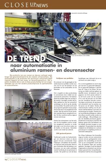 TREND: Automatisatie in aluminium ramen- en deurensector