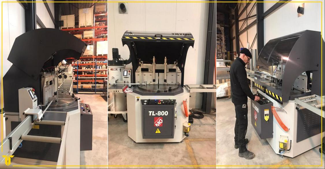 Een maand terug mochten we een automatische zaagmachine leveren bij Sky Climber Europe te Duffel